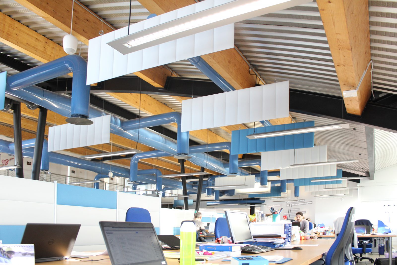 Horizontal Acoustic Ceiling Baffles And Acoustic Desk Dividers