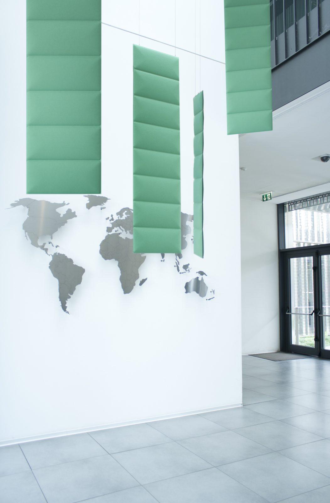 Vertical Acoustic Ceiling Baffles