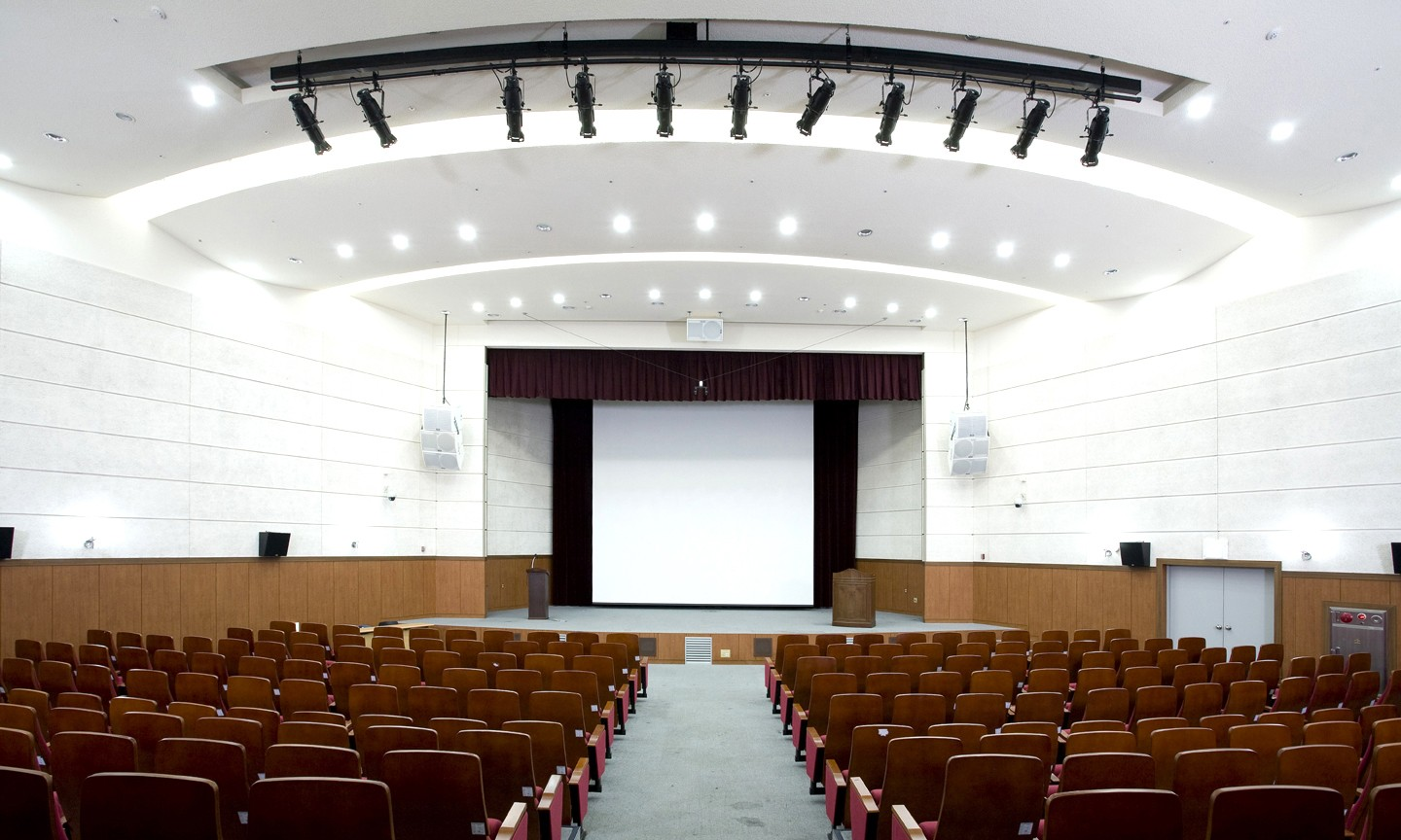 Wood Wool Acoustic Panels In Auditorium