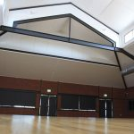 Community halls soundproofed ceiling