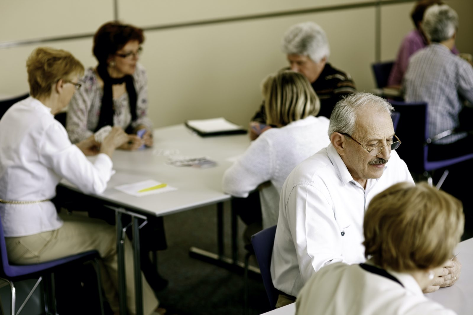 Seniors in an aged care facility