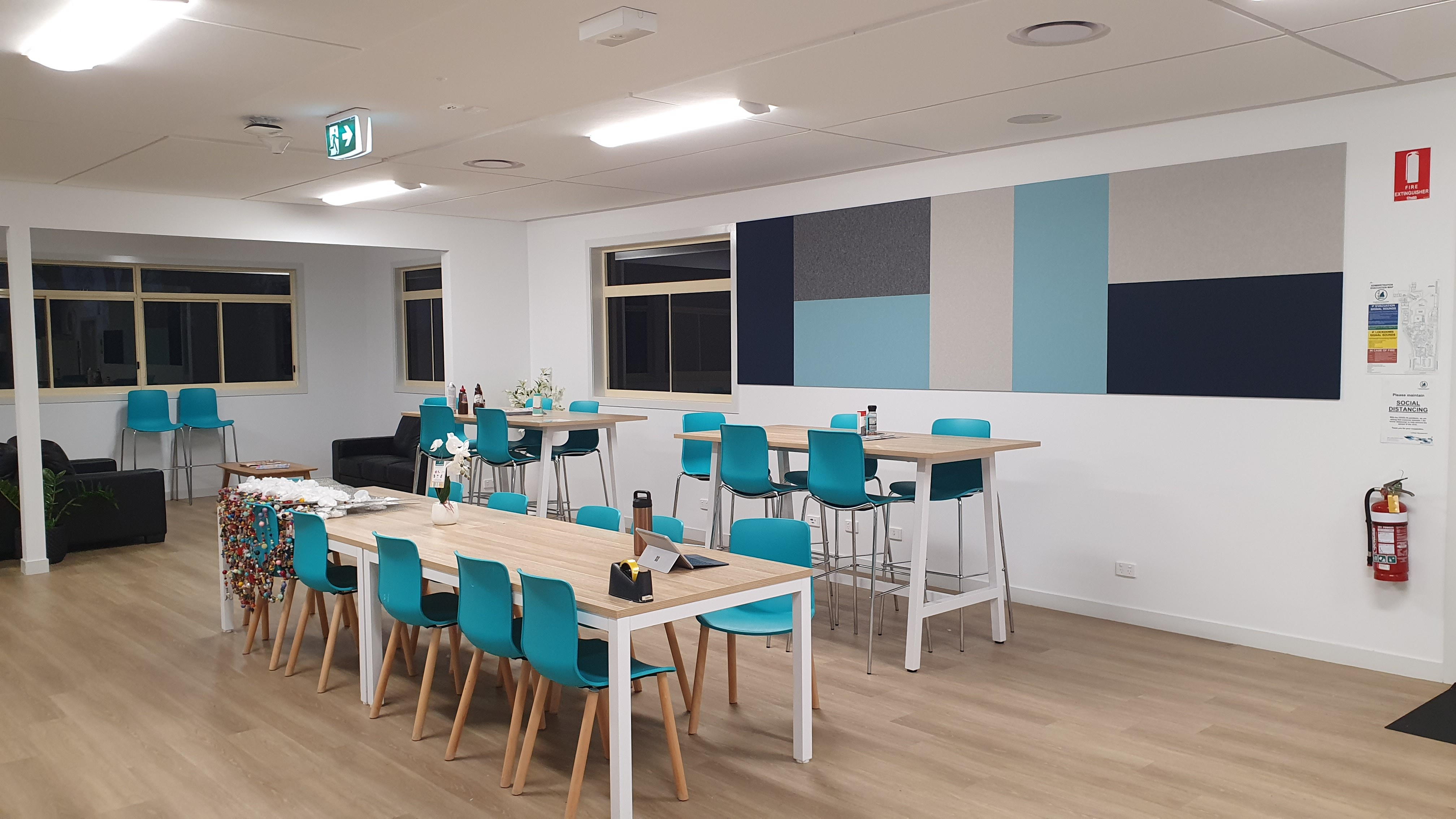 Bundaberg Christian College acoustically treated staffroom